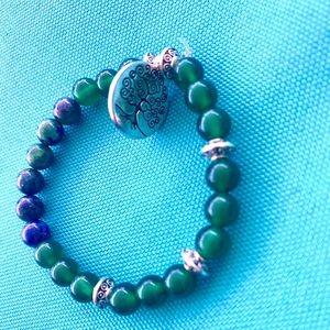 Jewelry - 💙💚Lapiz & Green agate Beautiful Bracelet💚💙